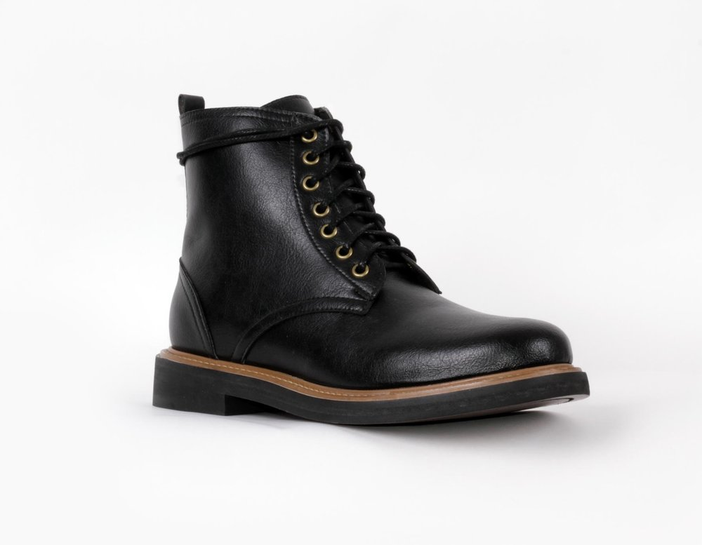 best foot forward - The Standard Boot made with hi-tech Italian future-leather, a PU which is superior to animal-derived leather. Weather resistant, supple, durable, ages beautifully.Brave GentleMan. $310