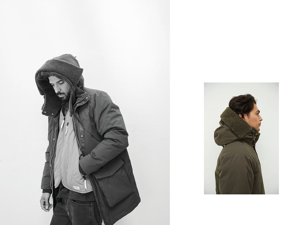 protector - The Whitecourt Parka features faux down and faux shearling and waterproof fabric. Contains recycled and certified organic components. Embassy of Bricks & Logs. $435