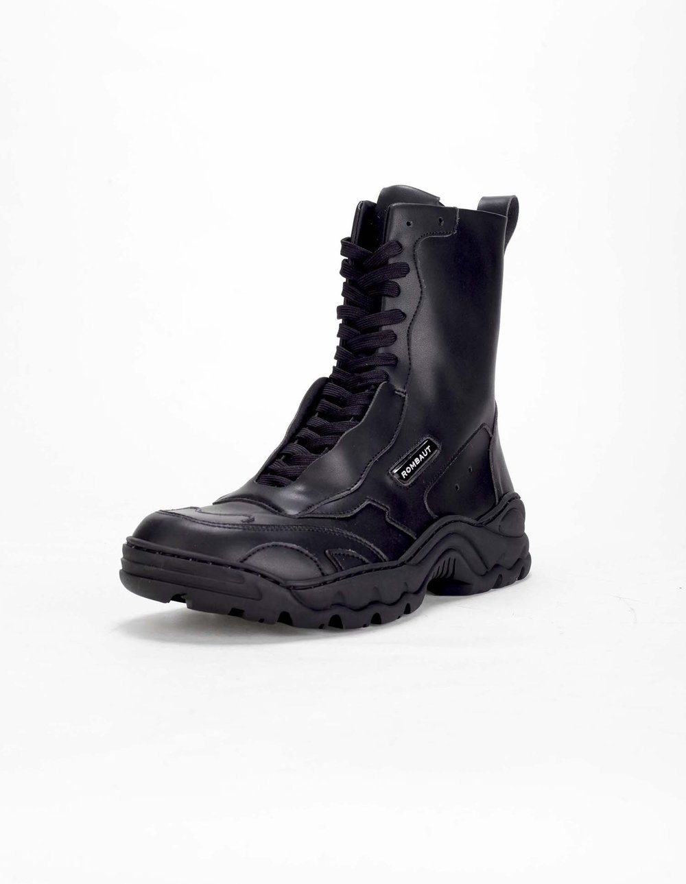 unmistakable - The Boccaccio Sneaker boots with rubber sole. 100% pleather upper and breathable lining, 100% vegan.Rombaut. $505