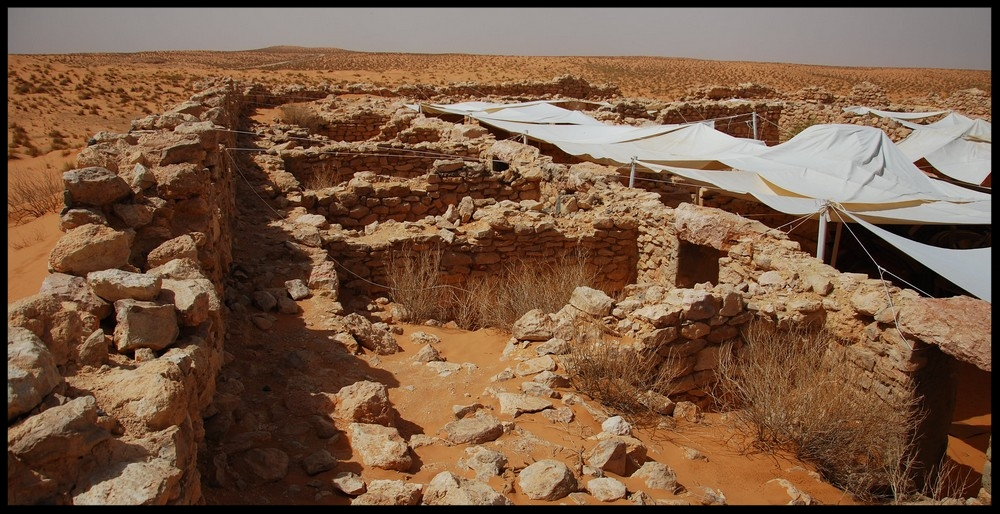 Remains of a ksar (Berber fortified village).