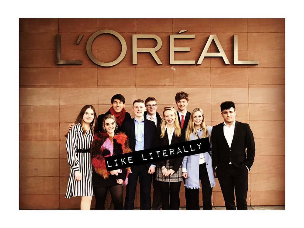 Some of the 2018 L'Oréal Interns.