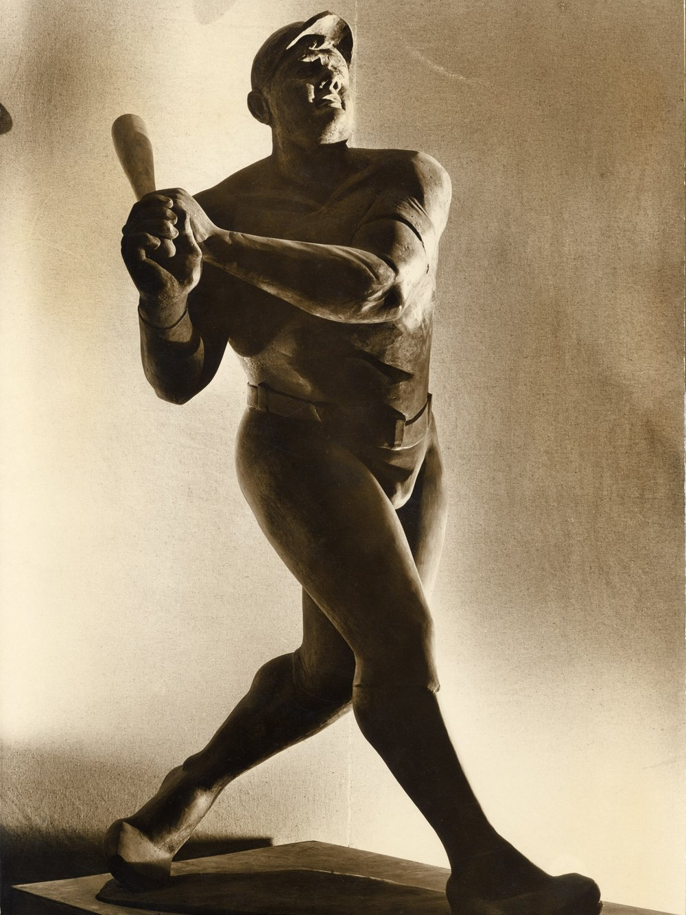 "Babe Ruth  1933-34, plaster 102"" high location unknown, presumed destroyed Photo ©Margaret Bourke-White"
