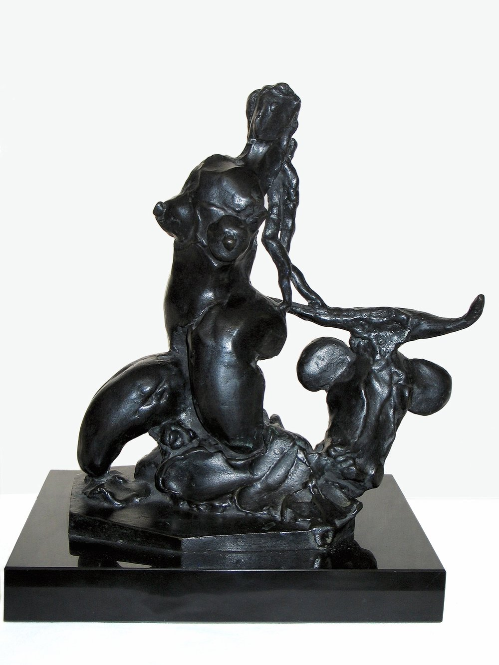 "Europa and the Bull  1945, bronze 10 x 9 ½ x 4 ½"" Private collections 30.013"