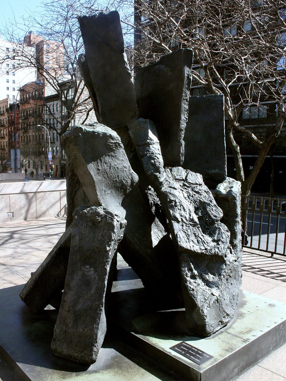 "Descent from the Cross  1972, bronze 120 x 120 x 153"" St. Vartan Armenian Cathedral, New York, NY Photo: St. Vartan Cathedral 10.19"