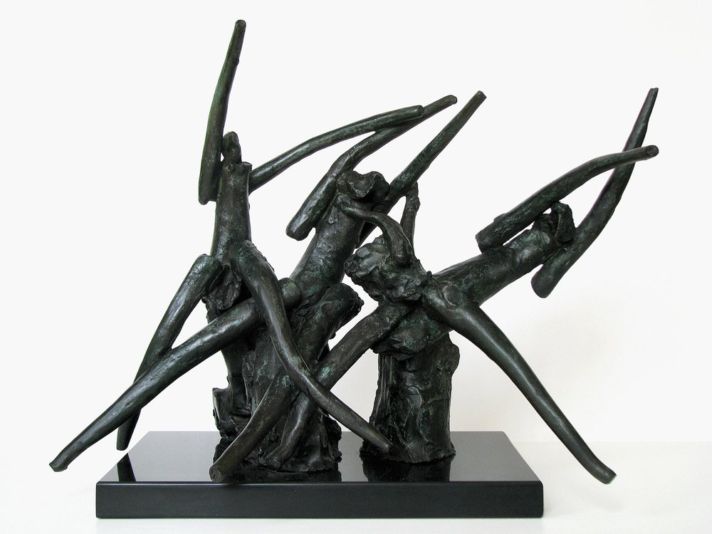 "Satyricon III  1982, bronze 14 ¾ x 22 ½ x 18 ½"" Private collections 30.398"