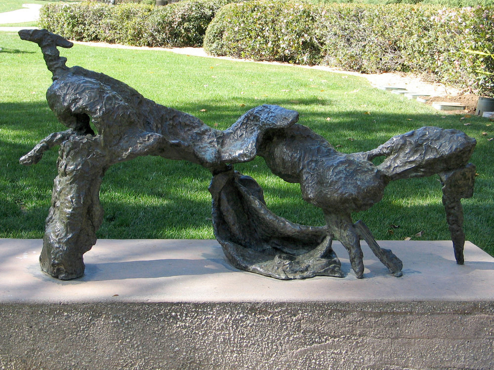 "La Chambre à Coucher de l'Empereur (The Emperor's Bechamber)  1953-54, bronze 38 x 76 x 30"" Franklin D. Murphy Sculpture Garden, UCLA, Los Angeles, CA; DeCordova Museum and Sculpture Park, Lincoln, MA; Portland Art Museum, Portland, OR 10.01"