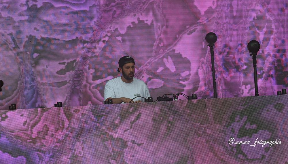 Asaf Borgore performing at Shaky Beats Music Festival on May 12, 2018 in Atlanta, Georgia. Photo by Xerxes Tzolis.