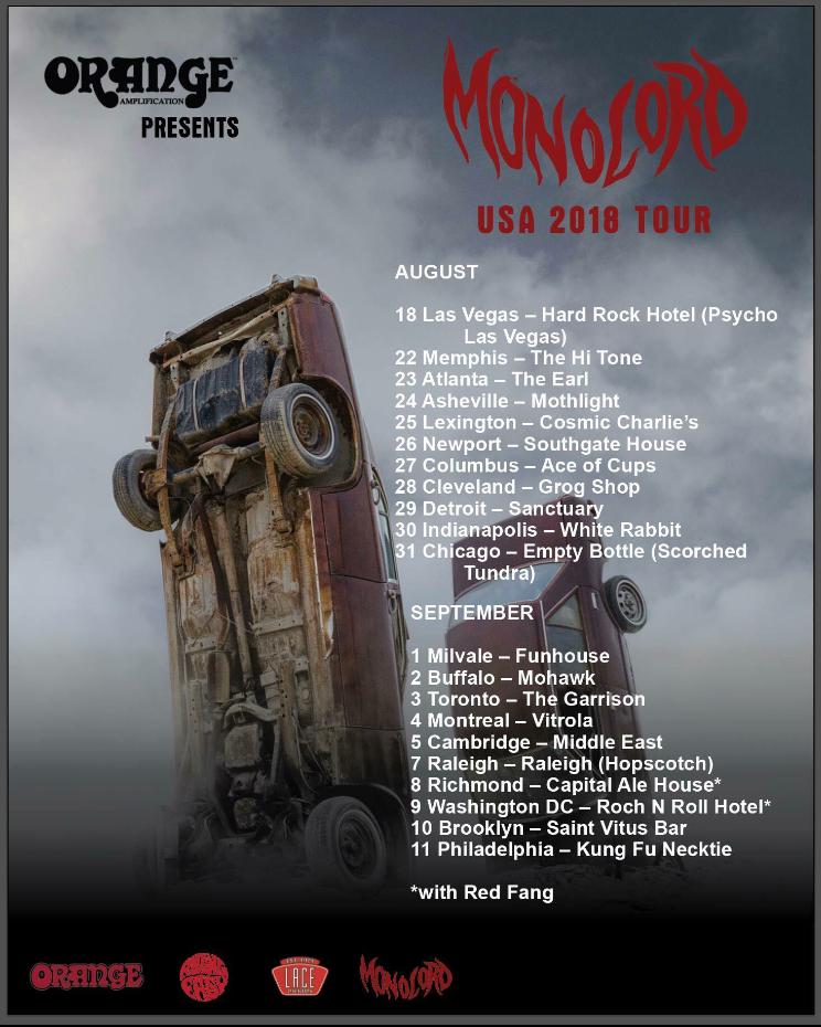 Monolord: USA 2018 Tour
