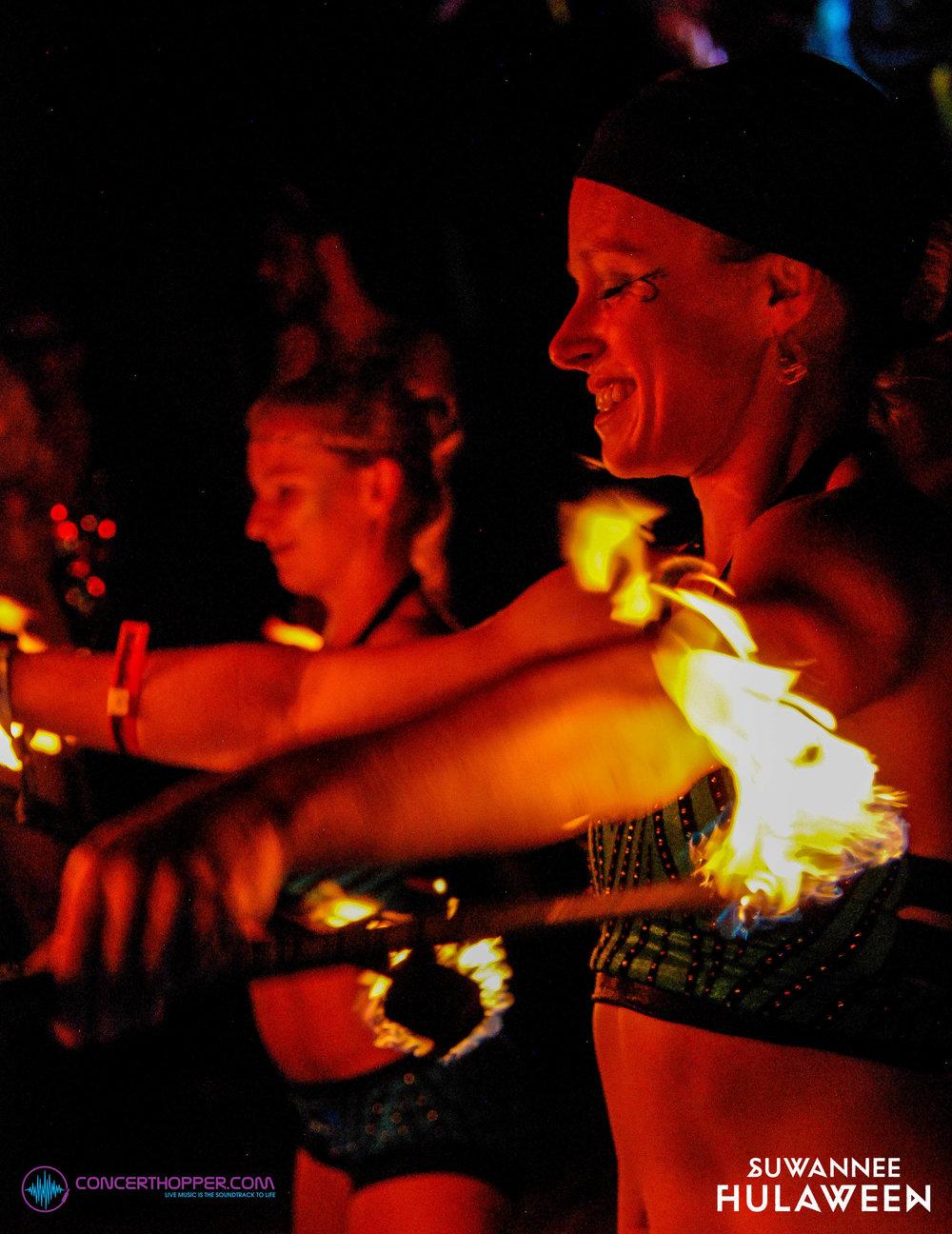 Fire Performers, Suwannee Hulaween 2018
