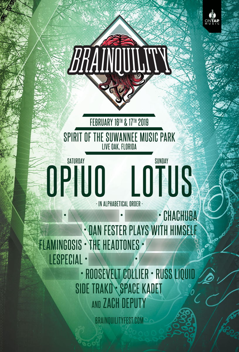 Brainquility 2019 Official Lineup Poster