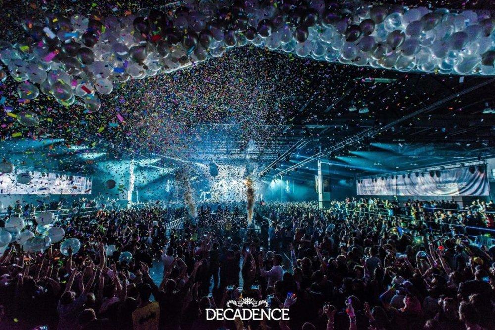 Decadence NYE - Photo courtesy of Substream Magazine.