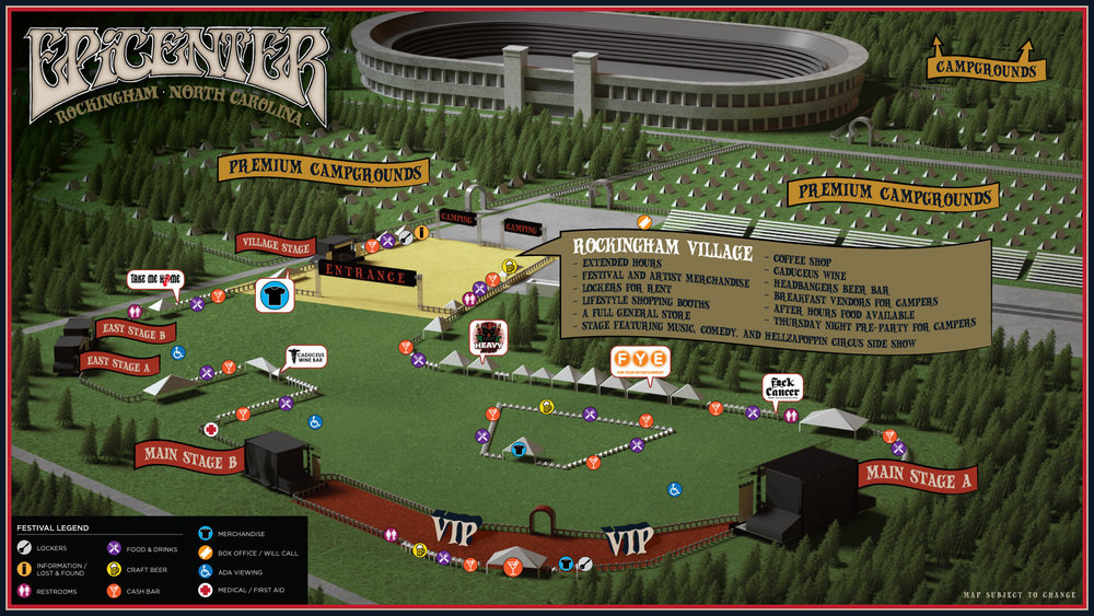 Epicenter Festival Map (2019)