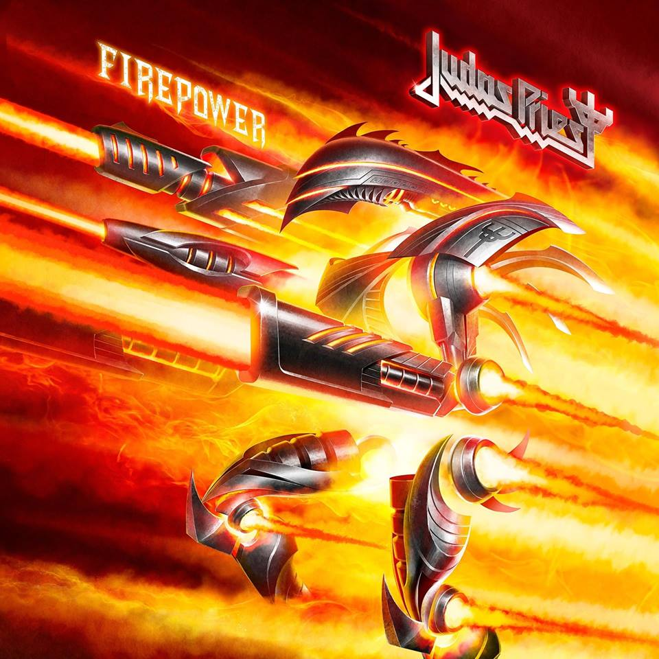 Album art from  Judas Priest's  latest album,  Firepower