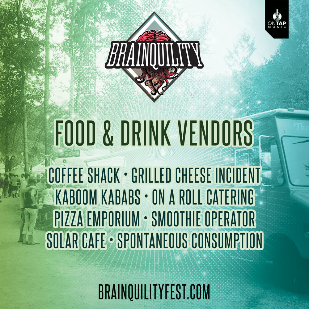 Brainquility Music and Arts Festival 2019 - Food Vendor Lineup