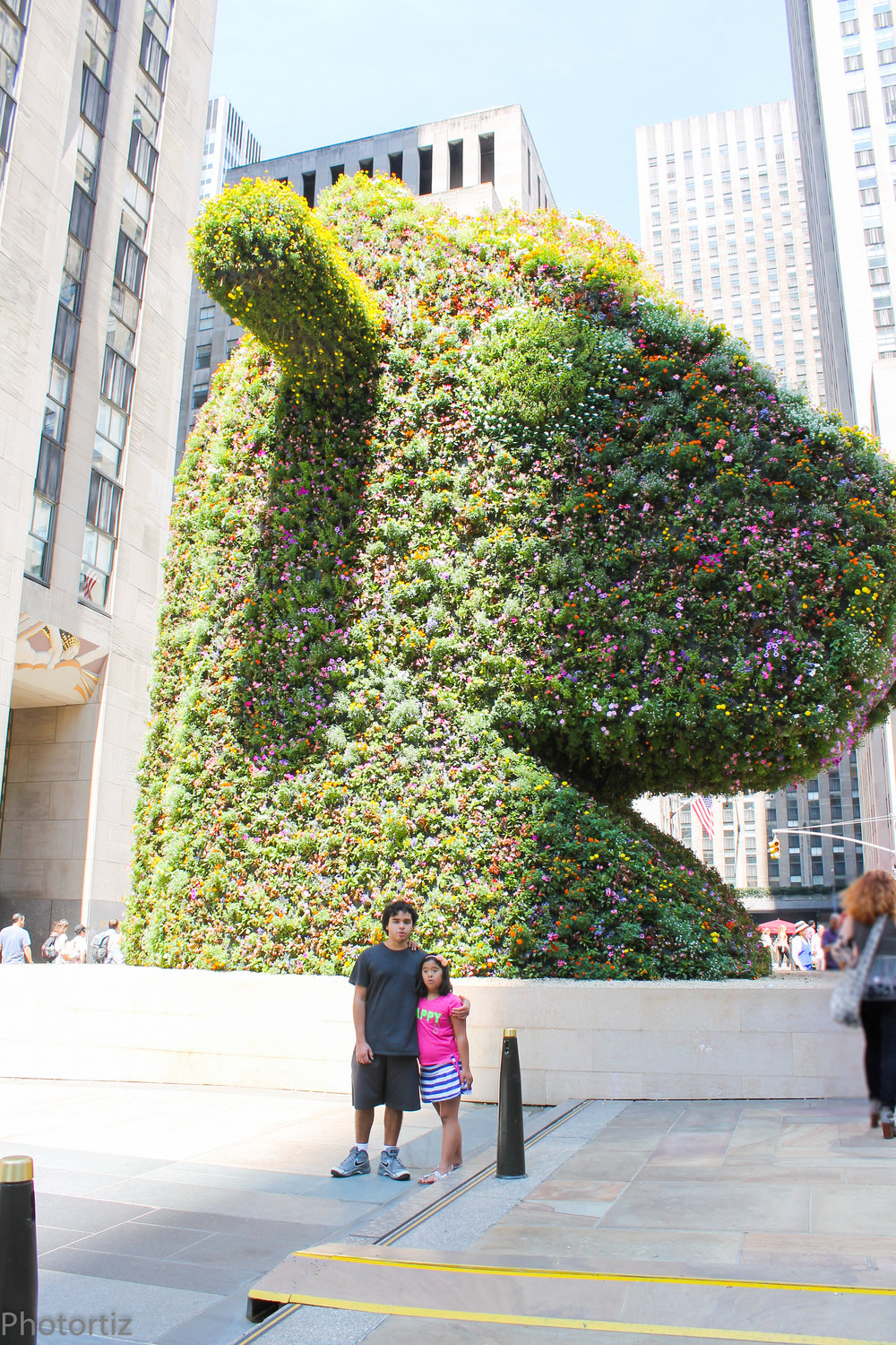 At the time, there was this sculpture from artist Jeff Koons.