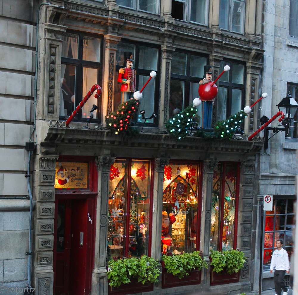 Charming stores in downtown Montreal.