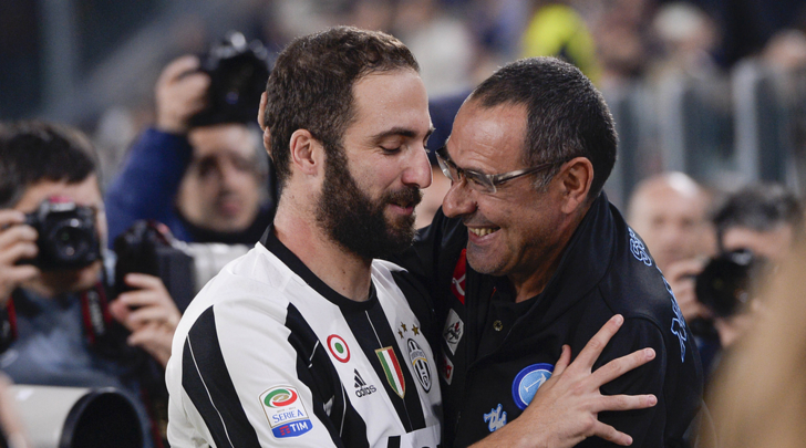 Reunited. Higuaín will be joining his old manager on a tentative 6-month loan deal at Chelsea.