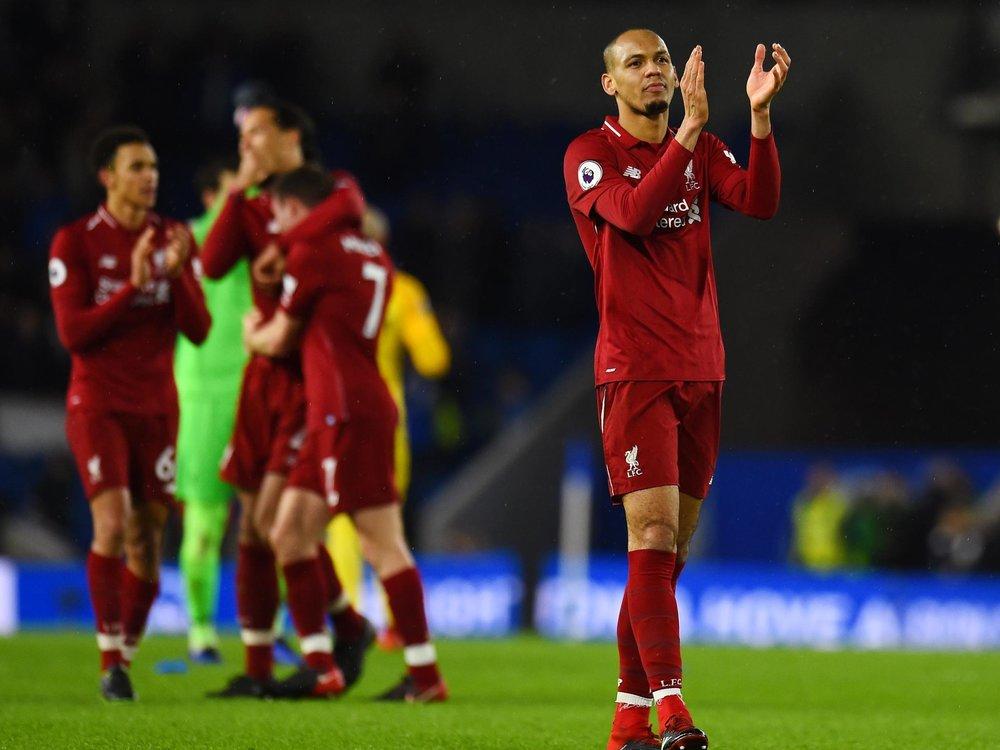 Fabinho impressed in Klopp's makeshift back line against Brighton.