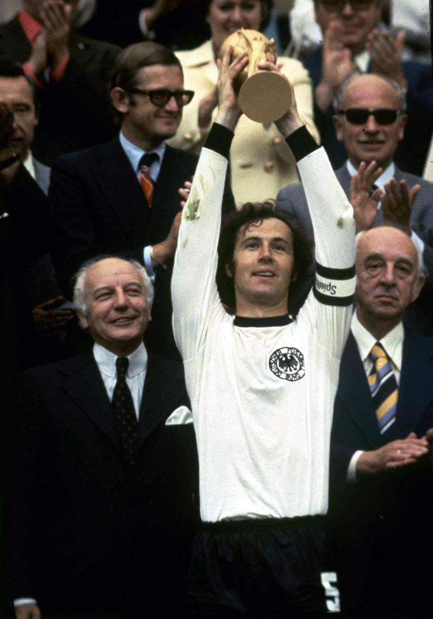 Der Kaiser with his World Cup