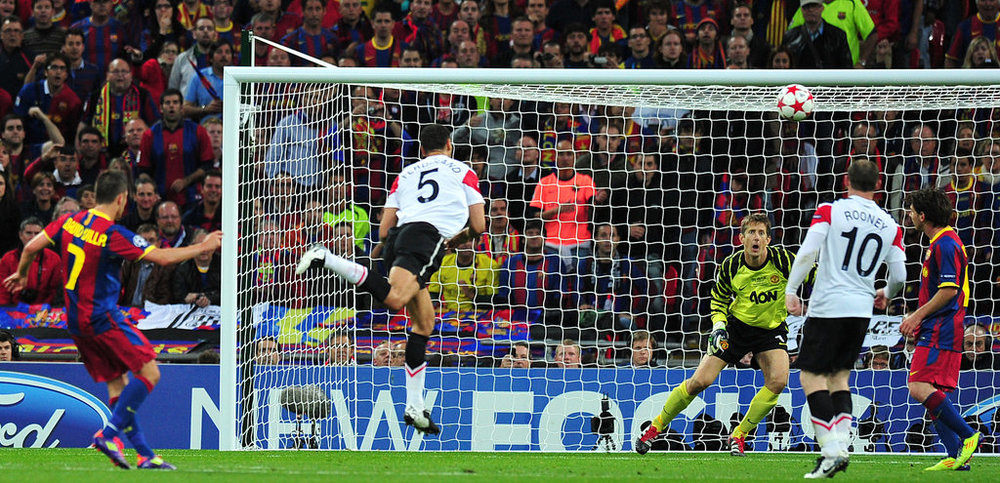 Villa's goal against United in the UCL final of '11.