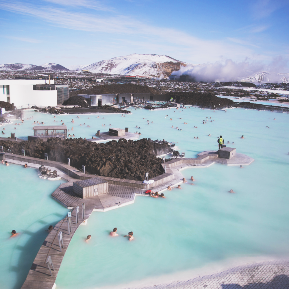 Swim in the Blue lagoon, Iceland -