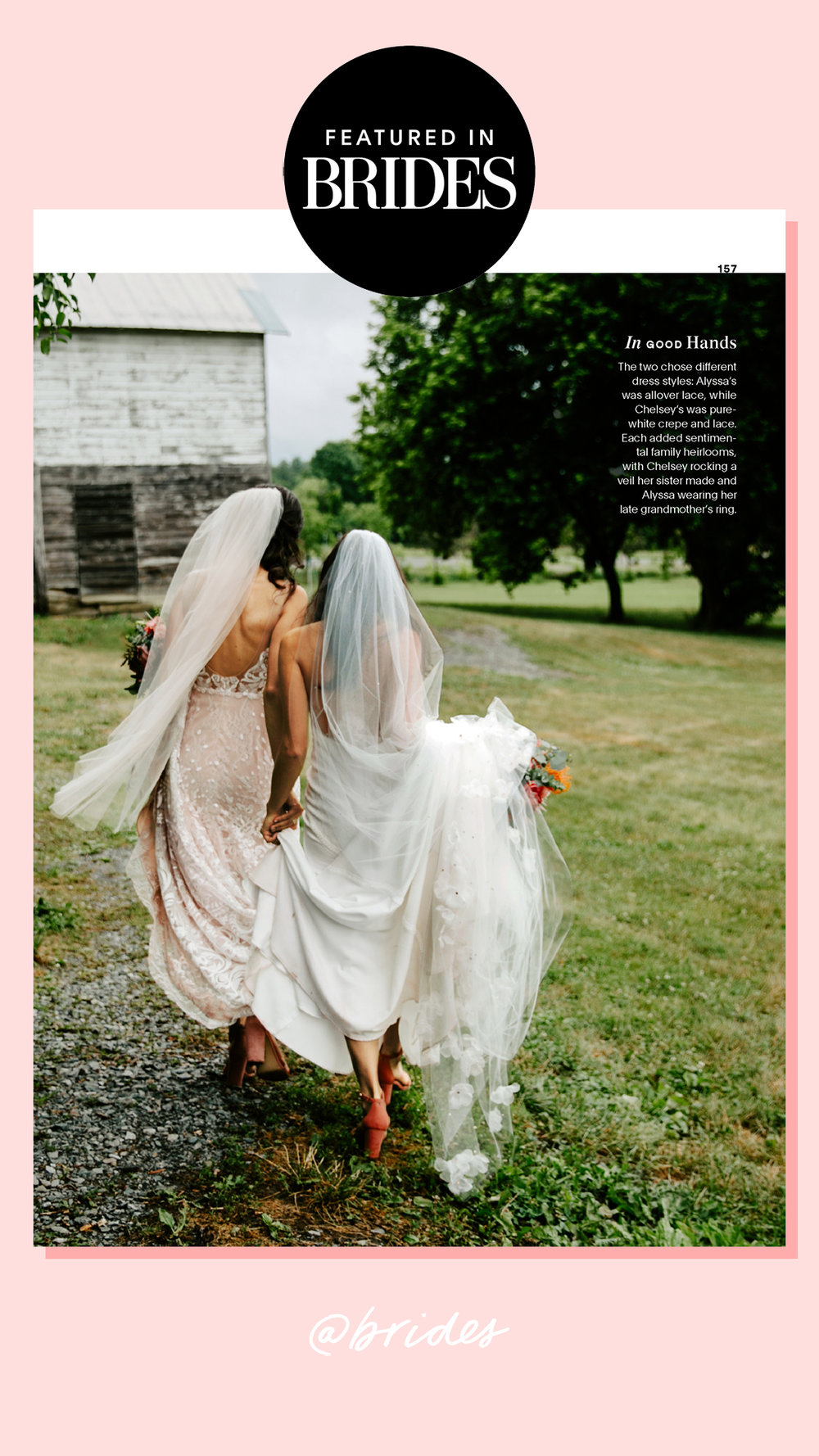 see our latest feature in brides magazine! -