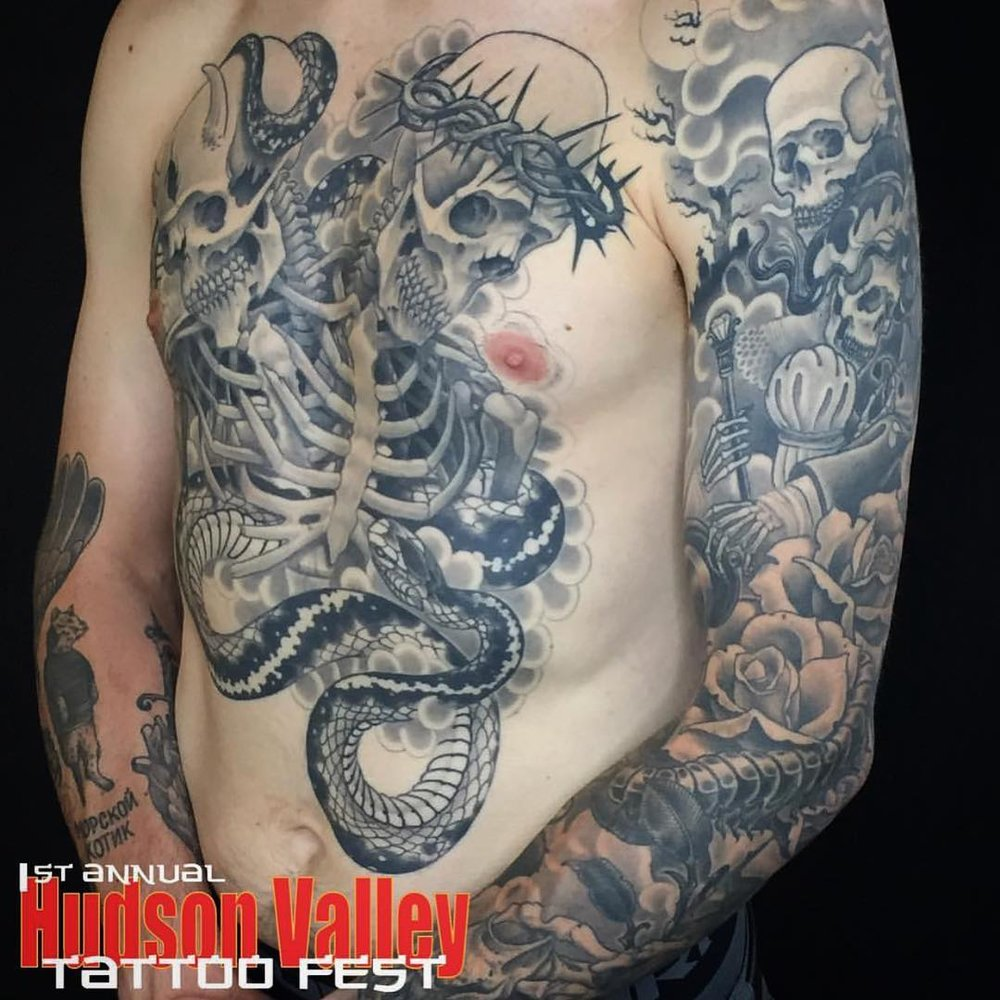 MAXWELL SHOBERG - HUDSON VALLEY TATTOO CO. - WAPPINGERS FALLS, NY