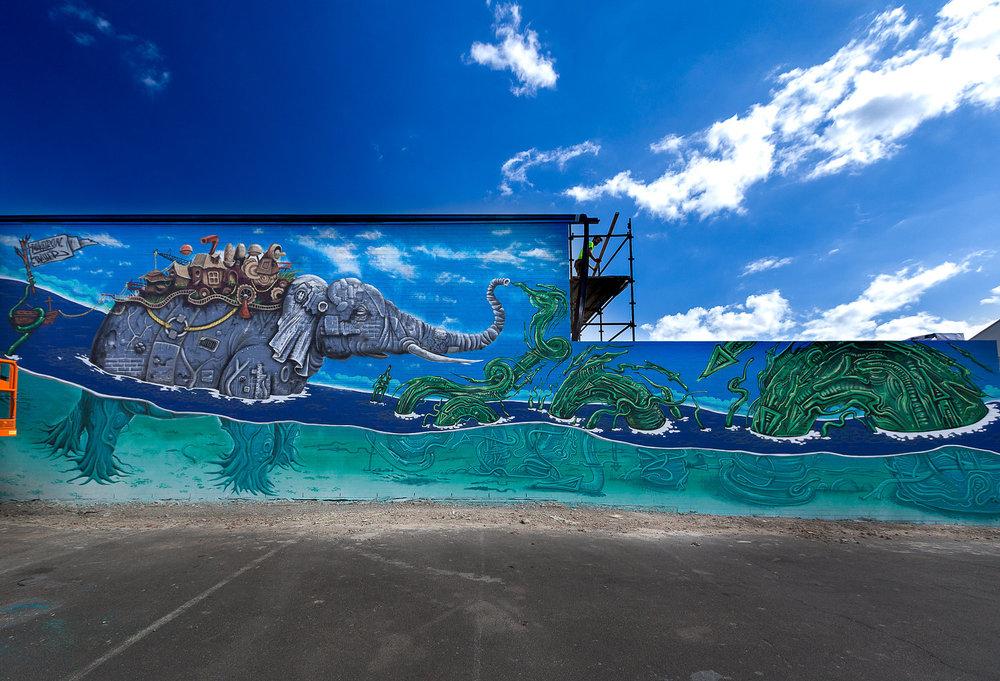 The Elephant Mural