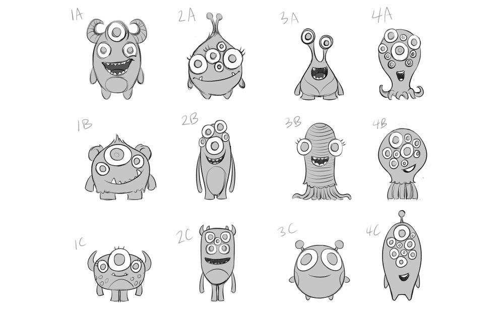 AdaptedMind Character Design Sketches