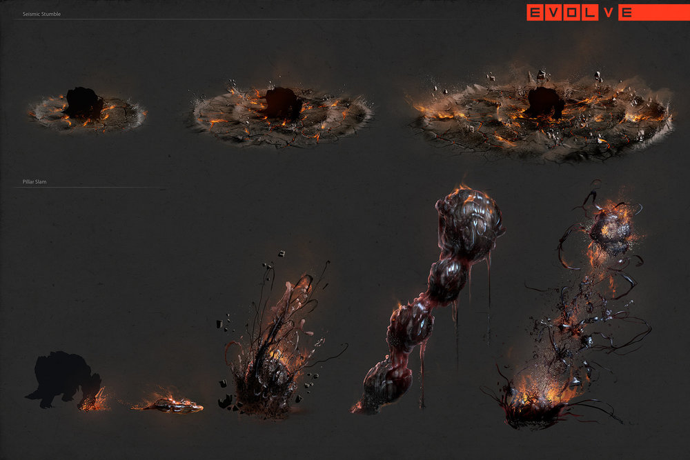 Evolve - Behemoth Ability VFX Concepts