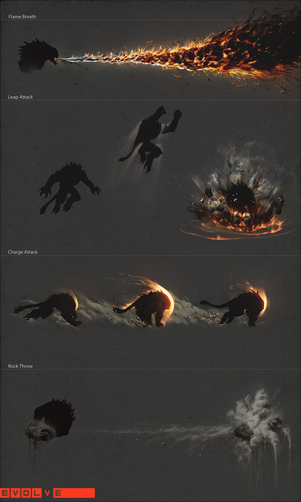 Evolve - Goliath Ability VFX Concepts