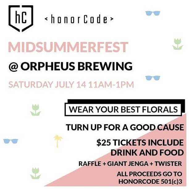 It's that time again! Come turn up for a good cause at our Midsummerfest event at Orpheus Brewing! Dust off your favorite floral outfit and enjoy some food, drinks, and games with us! Tickets are only $25 and your participation helps get K12 students more access to technology education! Ticket link in bio.  #atlevents #tech #community #education #atlanta #school #innovation