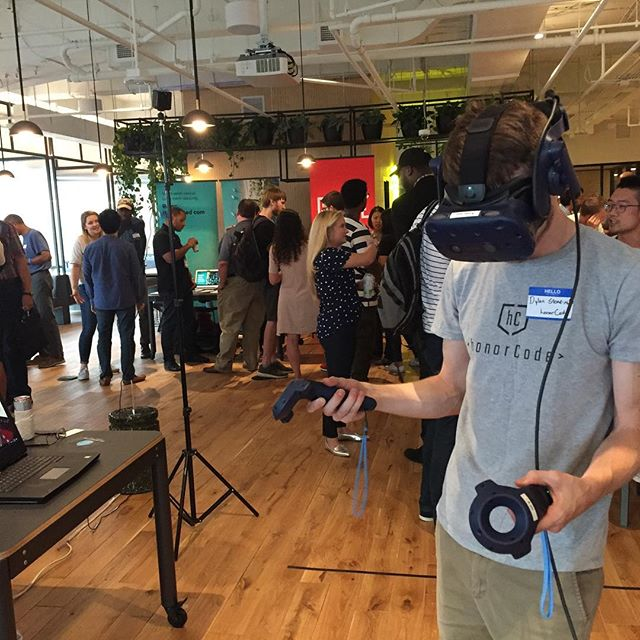Look out @apsupdate! Our Director of Programs is testing out VR with @foundry45 at @wework in #atlanta - special shoutouts to the amazing people at @goodrco and @roadie_app. Big things brewing!