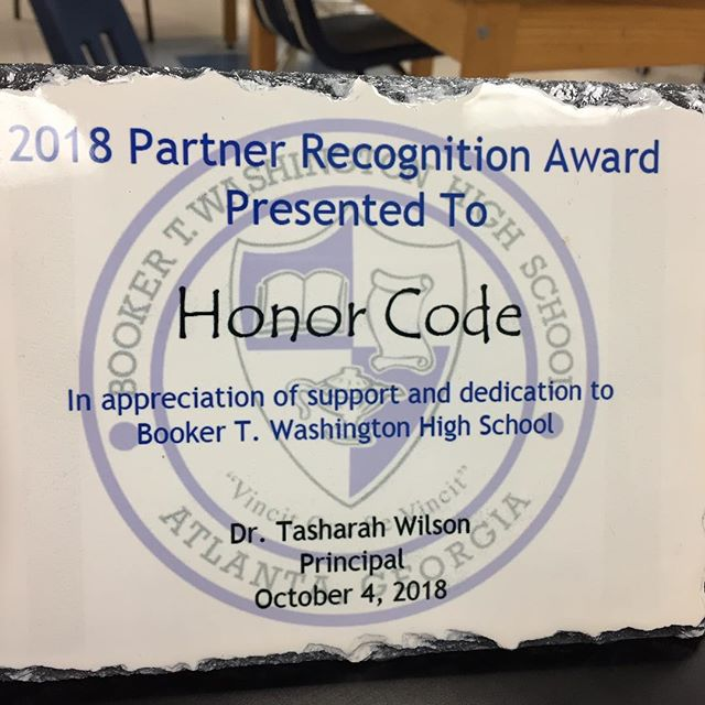 Thank you @btwatlanta for the recognition of our partnership! The teachers we have been training to code have big visions for their departments, and we are blessed to be able to help them bring these visions to life. @apsupdate #stem #teacherscode
