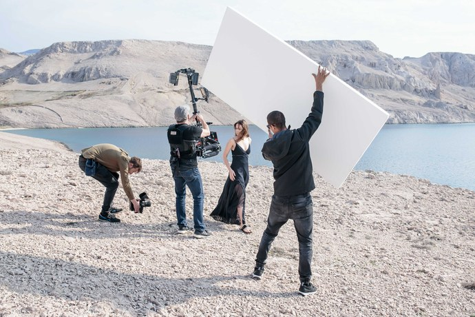 """Essence of Radiance"" video shoot directed by Alisha Goldstein. Photo courtesy of Clé de Peau Beauté."