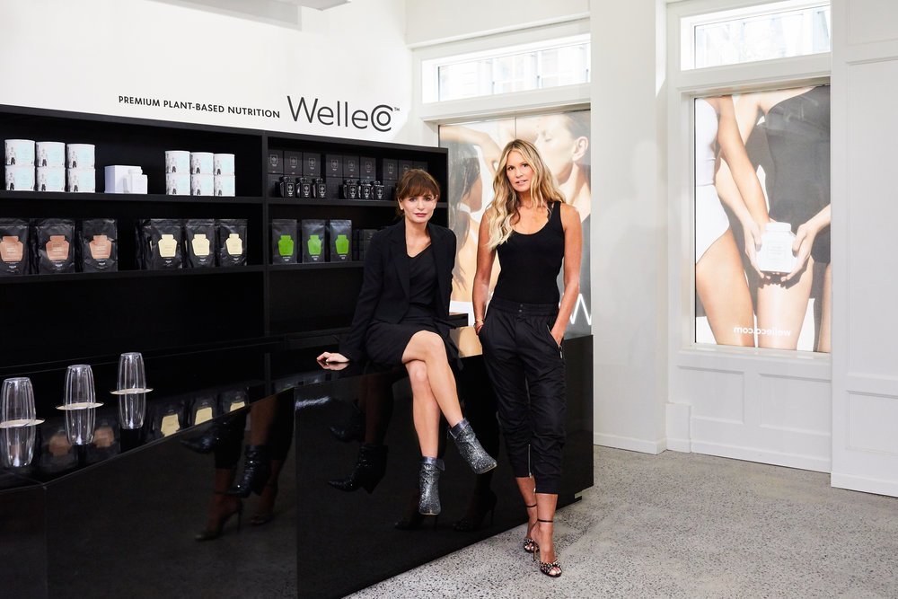 Andrea Horwood and Elle MacPherson, Co-Founders of WelleCo at their Soho flagship in N.Y.C.