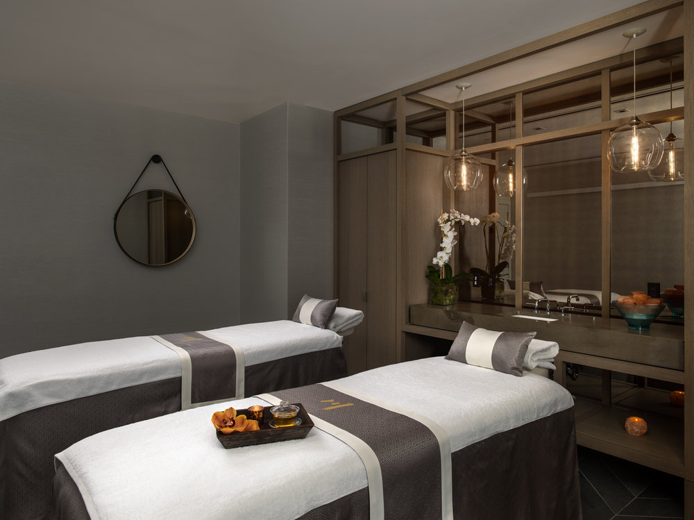 A couple's treatment room at Chuan Body + Soul.