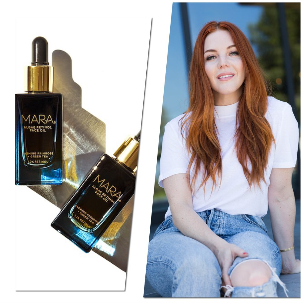Mara Algae Retinol Face Oil and Allison McNamara in Los Angeles.