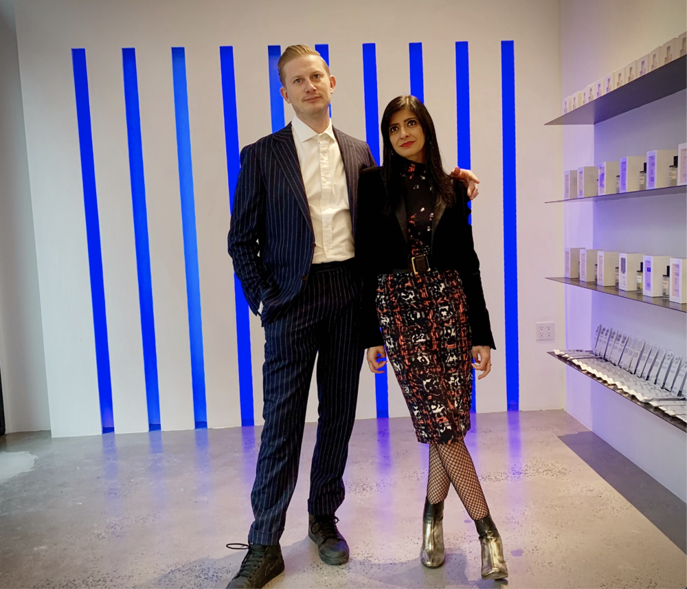 David and Kavi Moltz, founders of DS & Durga fragrance house at their new Nolita boutique.