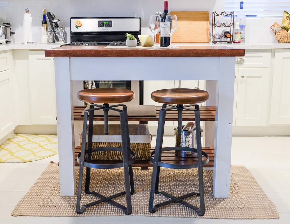 DIY Rustic Modern Kitchen Island