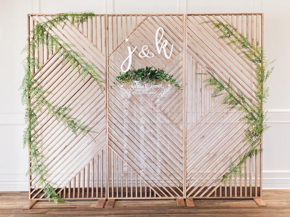 OSO DIY Wedding Backdrop Seating Chart