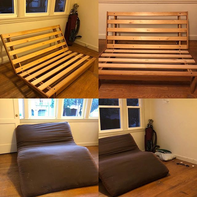 Free futon frame and mattress **pickup by this weekend ** DM for appointment #zerolandfill