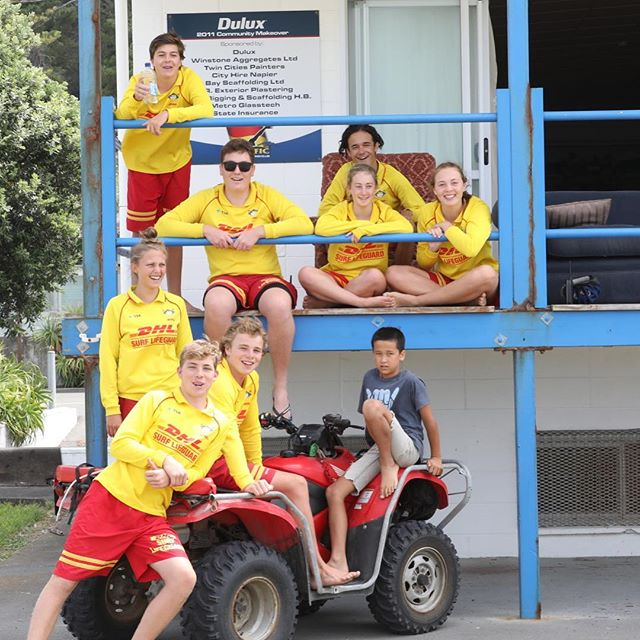 Our friends next door to@fishbike, the Pacific Surf life Saving club Sunday patrol. Thank you for the eight years. #damgoodneighbors #pacificsurflifesavingclub #marineparadenapier #lifeguards #surflifesaving #volunteering