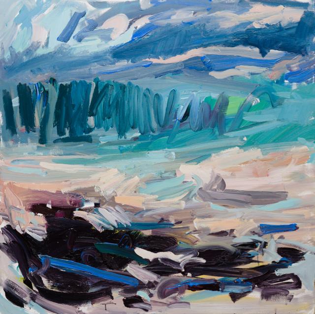 warm sea winds 140-140cm acrylic