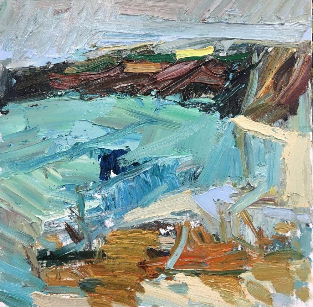 The winter cliffs  oil 50-50cm £1650