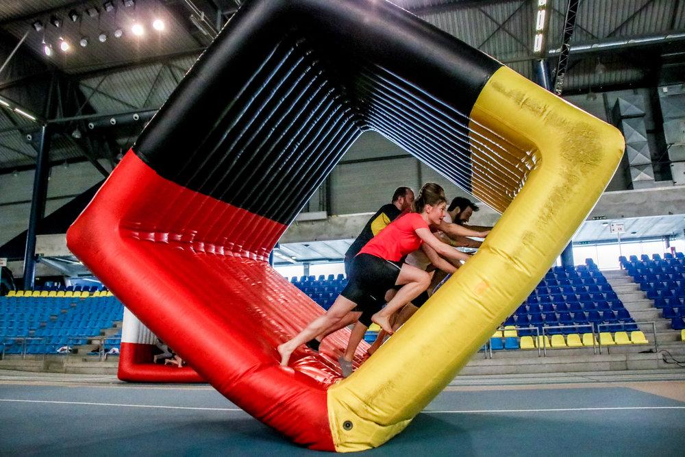 teambuilding - inflatable fun - winterproof