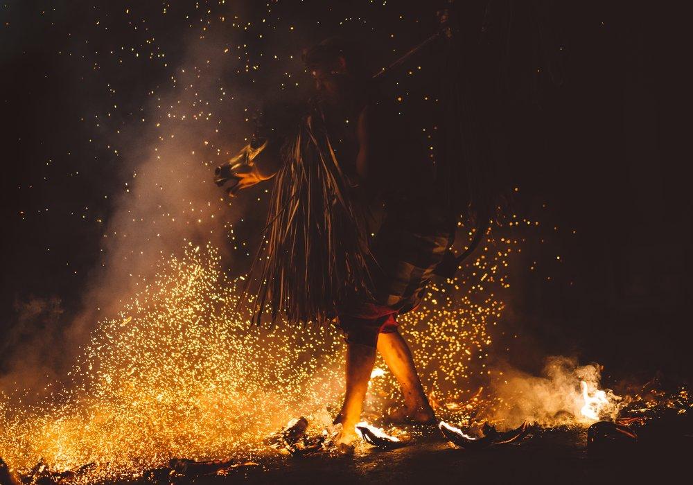 Walk on fire -