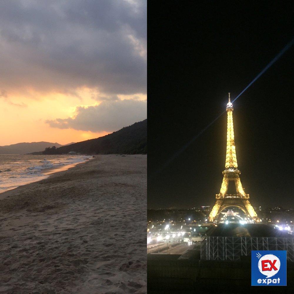 Des plages d'Asie aux bouchons de Paris. Nous parlons du choc du retour pour le premier épisode de #exexpat le podcast.