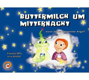 Buttermilch um Mitternacht - Thematik: AngstbewältigungHardcover, 24 Seiten, farbig illustriertErscheinungsjahr: 2010ISBN 978-3-200-01936-2Preis: 10,20 €