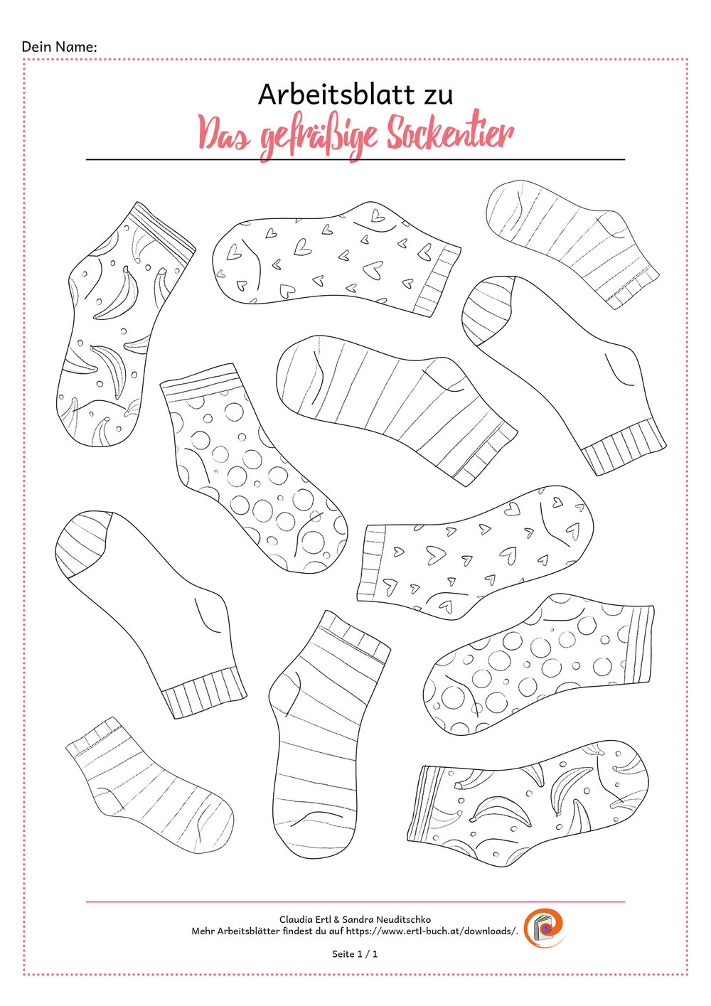 Download Arbeitsblatt Socken